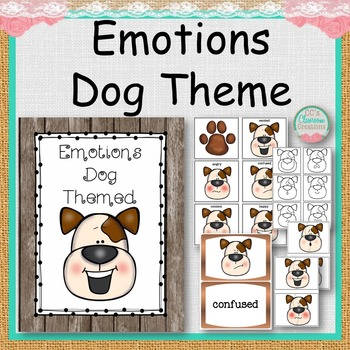 EMOTIONS Dog Themed Matching Tasks