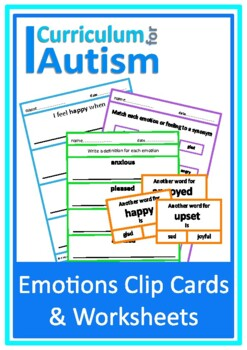 Autism Emotions & Feelings, Middle & High School, Special