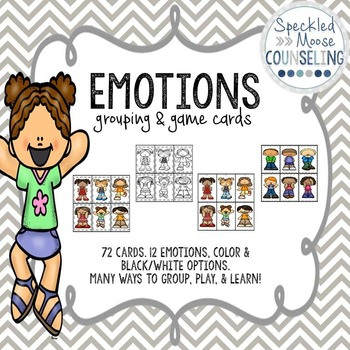 Emotions Grouping and Matching Playing Cards