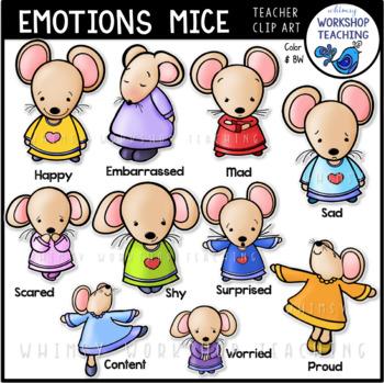 Emotions Mice Clip Art Social Skills- Whimsy Workshop Teaching