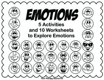 Emotions Packet - Fine Motor, Visual Motor and Self Regulation