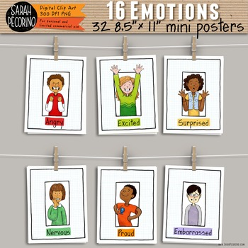 Emotions Single Page Posters