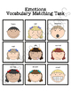 Emotions Vocabulary Match Two Folder Game for Early Childh