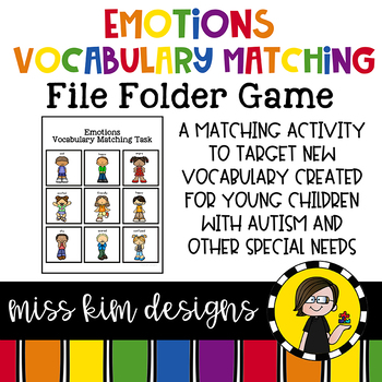 Emotions Vocabulary Folder Game for students with Autism