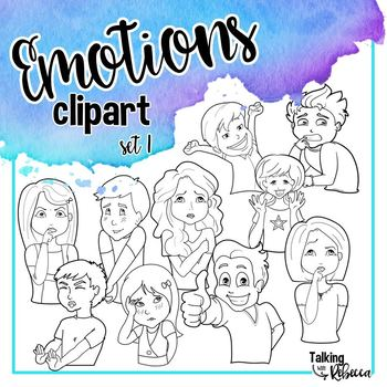 Emotions clipart set 1