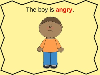 Emotions powerpoint activity/Flashcards (ESL, Counseling,
