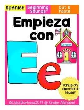 Empieza con Ee {Cut & Paste Emergent Reader}