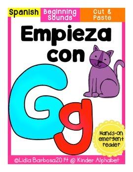 Empieza con Gg {Cut & Paste Emergent Reader}