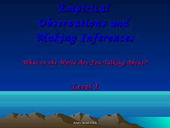 Empirical Observation v Inference; Fill-in-the-Blank Learn