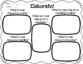 Empowering Writers Adding Elaborative Details Graphic Organizer