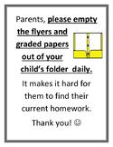 Empty folder contents