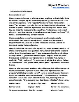 En Espanol 1    Unidad 2 etapa 2 to Unidad 3 etapa 3 Readi