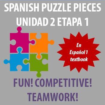 En Espanol 1 - Unidad 2 Etapa 1 - vocabulary puzzle pieces!