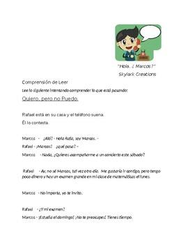 En Espanol 1 Unidad 3 etapa 1 Story in dialogue form w/ vo