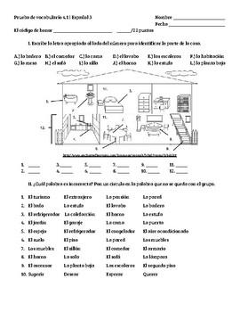En Español 2 4.1 Vocabulary Quiz