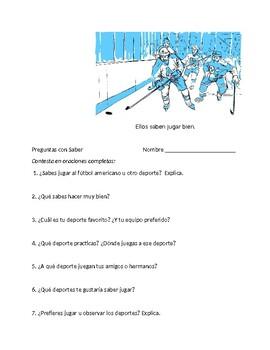 En Espanol 1 Unidad 3 etapa 2 Questions with saber and abo