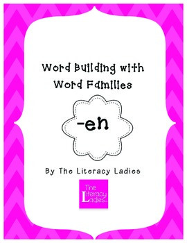 """En"" Word Family Lesson Plan"
