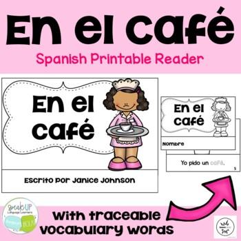 En el café Spanish Reader & Cut & Paste {FLES, dual langua