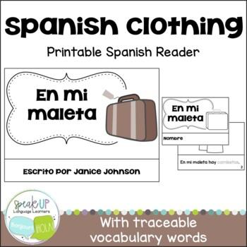 En mi maleta Spanish Clothing Reader {libro en español} &