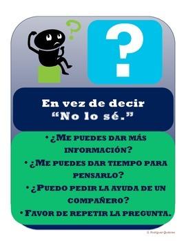 """En vez de decir """"No lo sé."""" (Spanish """"I Don't Know"""" flyer)"""