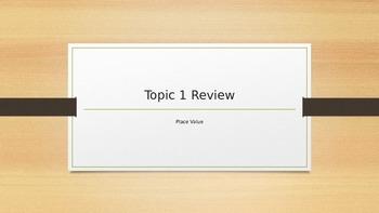 EnVision Common Core Topic 1 Review (5th Grade)