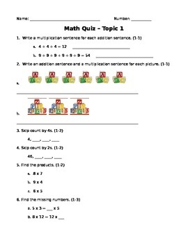 EnVision Grade 4 Math - Topic 1 Quiz