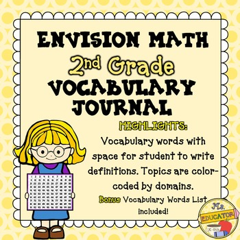 EnVision Math Common Core - 2nd Grade Vocabulary Journal