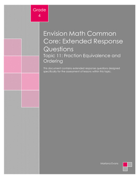 EnVision Math Extended Response Questions - Topic 11