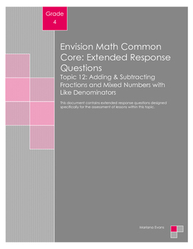 EnVision Math Extended Response Questions - Topic 12