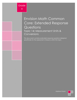 EnVision Math Extended Response Questions - Topic 14