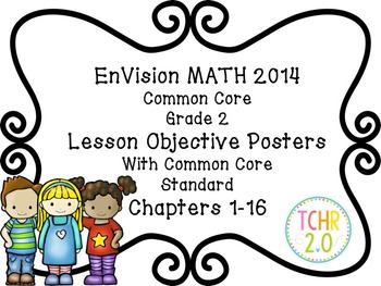 EnVision Math Grade 2 Learning Objective Vocab Posters Pri