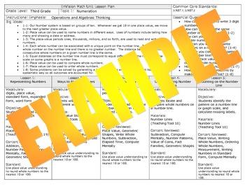 2012 Common Core EnVision Math Third Grade Unit Plan Bundl