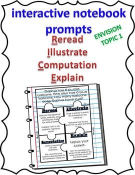 EnVision Topic 1 2nd grade R.I.C.E. Interactive Notebook