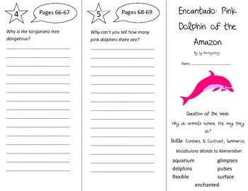 Encantado Pink Dolphin of the Amazon Trifold - Reading St