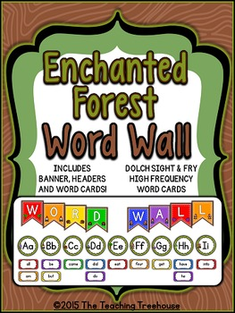 Enchanted Forest Word Wall