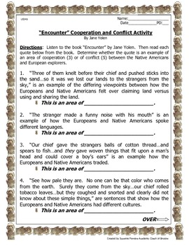 """""""Encounter"""" Cooperation and Conflict Activity-USI4b"""