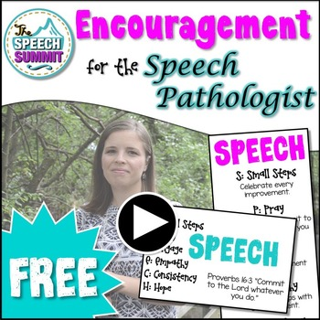 FREEBIE: Encouragement for the Speech Pathologist {Bookmar