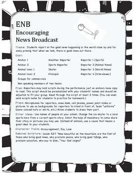 Encouraging News Broadcast - Easy play w/ character theme