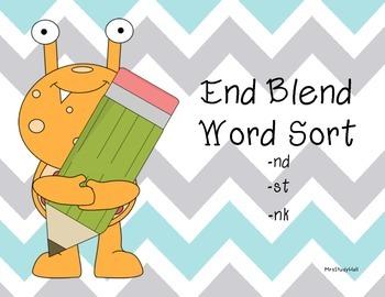 End Blend Word Sort