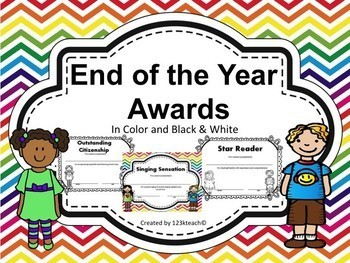 End Of The Year Awards, Certificates in Color and Black & White