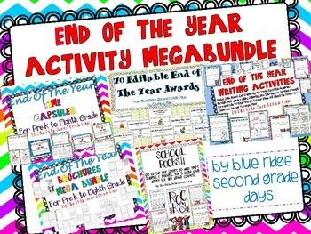 End Of The Year Megabundle (Writing, Activities, Games, an