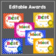 End Of Year Awards: Editable,Color,Black & White