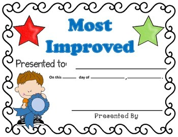 End Of Year Awards  (Easy on ink)