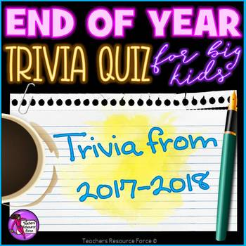 End of the Year Trivia Quiz 2016