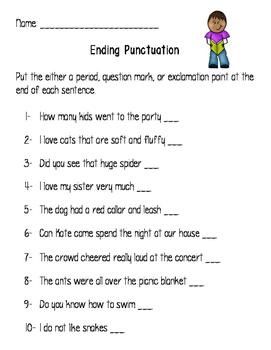 End Punctuation Practice