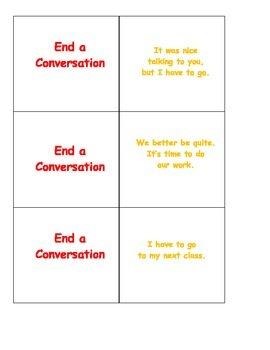 Conversation Help: End a Conversation Card SET