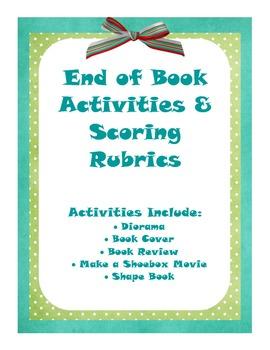 Book Report Alternatives - End of Book Activities & Scorin