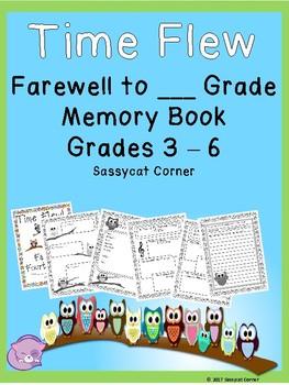 End of School Activities - Memory Book