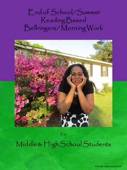 End of School/Summer Bellringers for Middle School & High