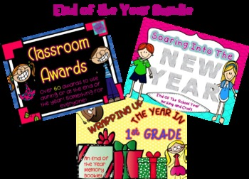 End of School Year Bundle - 3 products- Awards, Memory Boo